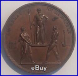 NAPOLÉON Ier Belle médaille XIXe LE SÉNAT ET LE PEUPLE signée Andrieu 1804