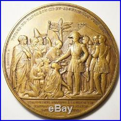 Napoleon III Rare & Grosse Medaille Du Voyage En Algerie 1865