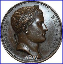 O5094 Rare Médaille Napoleon I Empire bataille Eylau Brenet 1807 SUP