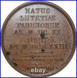 O5354 Rare Médaille Poquelin de Molière 1821 Baron Desnoyers SUP