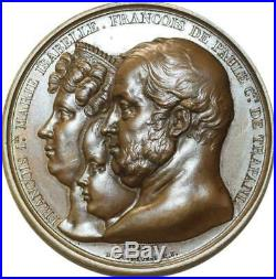 O5463 Rare Médaille François Ier Bourbon 1829 Grenoble Baron Desnoyers SUP