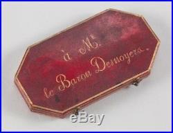 O5552 Rare Médaille Napoleon I Bataille Waterloo 1815 Rogat Baron Desnoyers SPL