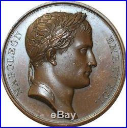 O5559 Rare Médaille Napoléon I 1806 Andrieu Jaley Ulm Memmingen Desnoyers SPL