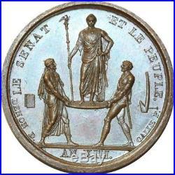 O5573 Rare Médaille Napoleon I Droz Galle coronation an XIII 1804 Desnoyers SPL