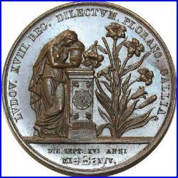 O5592 Rare Médaille Mort Louis XVIII Caunois 1824 Baron Desnoyers SPL