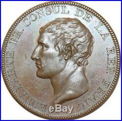 O5657 Rare Médaille Napoleon I Retour Astree Paix Amiens 1802 Droz Desnoyers SPL