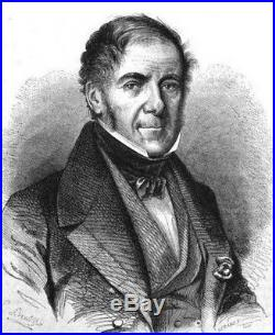 O5812 Rare Médaille François Ier Bourbon 1829 Grenoble Baron Desnoyers SUP