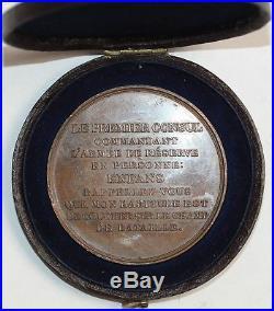 O6550 Rare Coffret Médaille Bonaparte Marengo Auguste An 8 SUP -Make offer