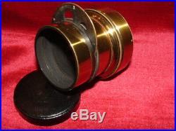 Objectif Perigraphe Lens Bronze Systeme Berthiot Xix° Siecle