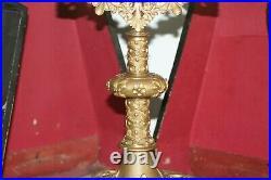 Ostensoir en bronze et laiton doré avec sa lunule et son étui XIXe Siècle