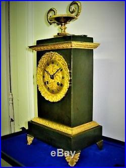 PENDULE borne EN BRONZE a fil uhr clock klok antik french XIX eme siecle