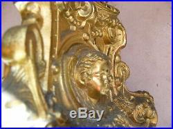 Paire de Piques cierge en Bronze XIX ème siècle Angelots Putti