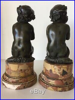 Paire de faunes en bronze d époque XIX ème siècle