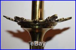 Paire de pique cierges néo Gothiques en bronze doré a l'or XIXe Siècle