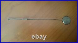 Pendule Bronze doré XIX siecle Angelot avec serpent 35cms 4kg Manque Clé