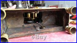 Pendule Époque Restauration Cupidon Bronze Dore Mat Bruni Début Xix° Siecle