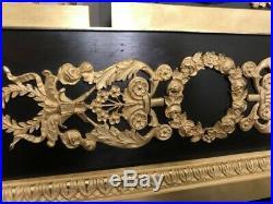 Pendule en bronze doré les troubadours XIX° siècle