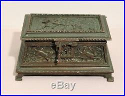 Petit coffret en bronze aux attributs de chasse époque XIX ème siècle