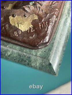 Petite sculpture bronze Alfred Barye Fils enfants saute-mouton XIXè siècle