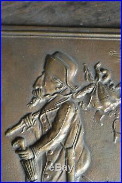 Plaque Bronze Représentation Satyrique Caricature Napoléon III Défaite 1870