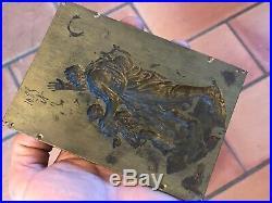Plaque Bronze XIX ème Siècle Mythologie 19 ème Siècle Elément