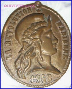 Plaque En Bronze La Revolution Marianne 1848