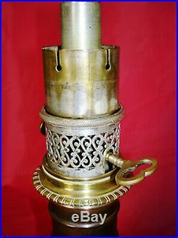 Rare Lampes À Pétrole Gagneau En Bronze Du XIX Ème Siecle. D'époque Art Nouveau