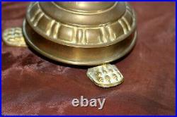 Rare paire de pique cierges d' acolytes en bronze doré XIXe Siècle