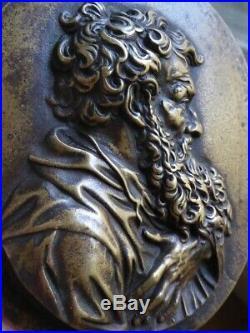 Saint Paul Plaquette en bronze XIXe / XVIIe siècle Baroque Haute époque 17th
