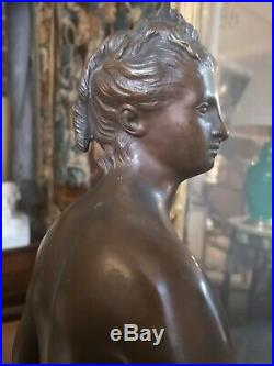 Sculpture Diane d'après Houdon bronze style XVIII ème, époque fin XIX ème siècle