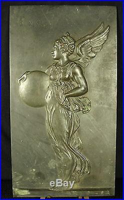 Sculpture bas-relief Déesse de la victoire Nikè Nikh Goddess of victory 1kg 27cm