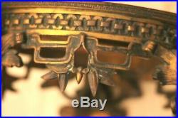 Socle en bronze XIX siècle pieds chimères dragon Extrème-orient superbe