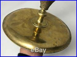 Soliflore & Vase & Cristal Taillé & Bronze & Oriental & Inde & XIX ème Siècle