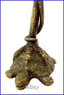 Statue En Bronze Cigogne Serpent Et Tortue Barbedienne XIX Éme Siècle