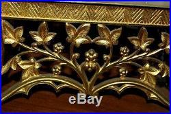 Thabor en bronze doré ajouré de feuilles de chêne XIXe Siècle