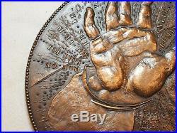 Très RARE Médaille ROTI en bronze MICHEL ANGE 1564 1964 en écrin