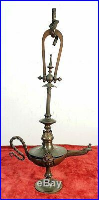 Vieille Lampe À Gaz. Bronze Style Moderniste. Xix-xx Siecle